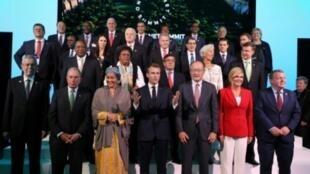 المشاركون في قمة كوكب واحد في فندق بلازا في نيويورك، على هامش أعمال الجمعية العامة للأمم المتحدة الأربعاء 26 أيلول/سبتمبر 2018