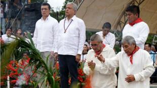 Con un ritual indígena en Palenque, Chiapas, se dio inicio al proyecto del Tren Maya.
