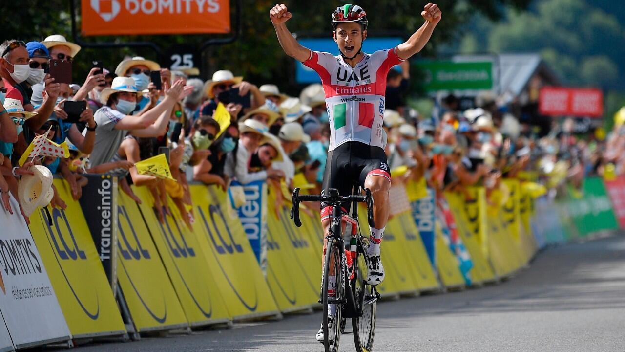 Davide Formolo logró aguantar la presión de los perseguidores para alzarse en la tercera etapa de la Critérium du Dauphiné 2020.