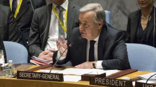 Le secrétaire général de l'ONU, Antonio Guterres, s'est inquiété jeudi 16 mars des réductions de la contribution budgétaire américaine à l'ONU.