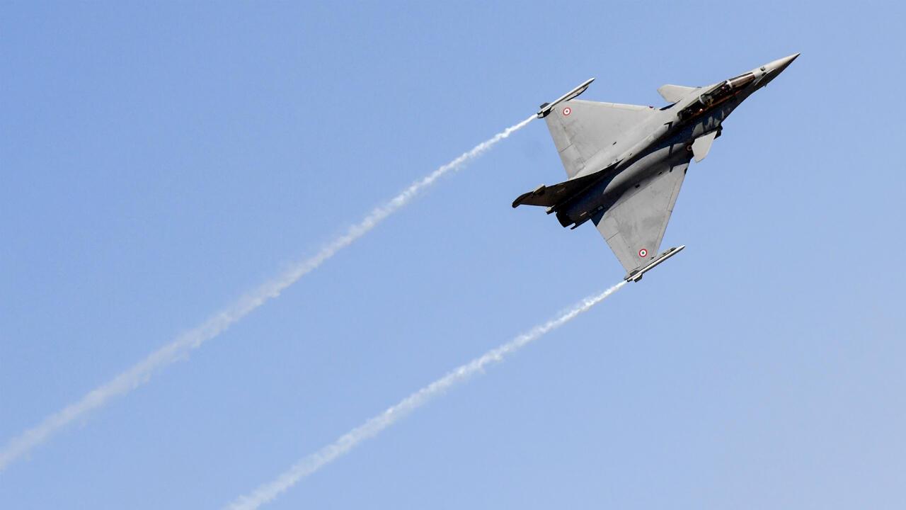 Un avion de chasse Rafale, le 18février2019, à Bangalore.