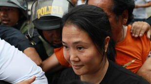 Keiko Fujimori leaves her home in Lima on January 28th after a judge ordered her return to prison.