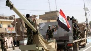 Des troupes de l'armée irakienne