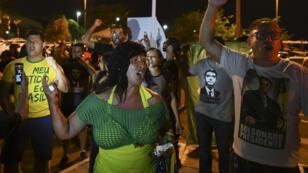 Des supporters du candidat du Parti social-libéral (PSL), Jair Bolsonaro, manifestent pour dénoncer des fraudes présumées, le 7 octobre 2018 à Brasilia.