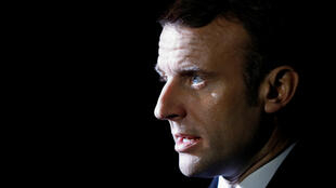 France's President Emmanuel Macron talks to the media as he leaves Downing Street ahead of a NATO summit in Watford, in London, Britain, December 3, 2019.