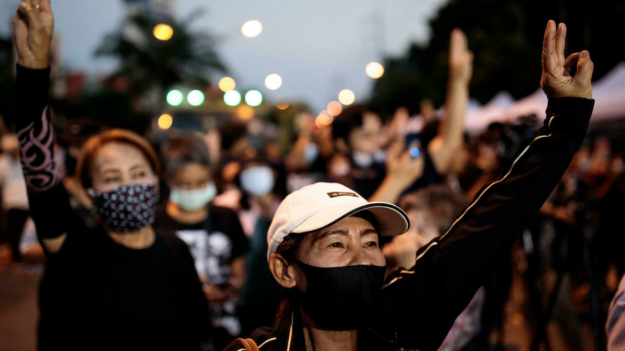 Thousands of Thai pro-democracy protesters rally after PM snub