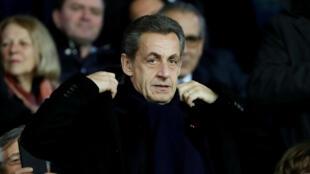 El expresidente Nicolas Sarkozy asiste a la Copa de Francia, enero 24 de 2018.