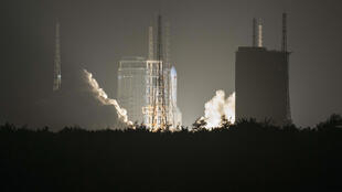 China's Long March 5 rocket blasts off from its launch centre in Hainan last year