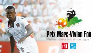 Jean Michael Seri, désigné joueur africain de l'année en Ligue 1.