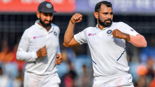 Mohammed Shami (R) is part of a potent Indian pace attack