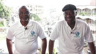 Roger Milla et Jospeh-Antoine Bell dans Afrique Hebdo