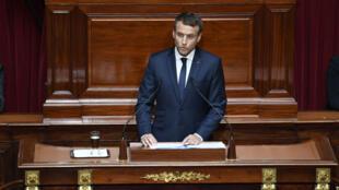 Emmanuel Macron s'exprime devant le Congrès à Versailles, le 3 juillet 2017.