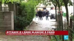 """2020-09-25 13:37 Cette nouvelle attaque devant les anciens locaux de Charlie Hebdo """"est forte en symbolique"""", affirme Virgine Herz"""