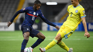 Ousmane Dembele got the opening goal as France won 2-0 in Kazakhstan in World Cup qualifying on Sunday