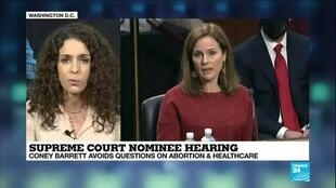 2020-10-14 12:03 Supreme Court nominee hearing: Coney Barrett avoids questions on abortion & healthcare