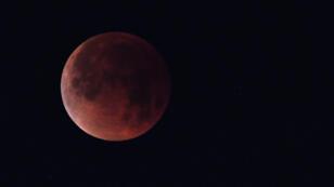 Une éclipse de Lune partielle, immortalisée en Californie le 31 janvier 2018.