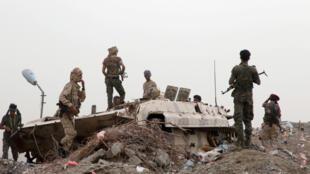 مقاتلون تابعون للانفصاليين الجنوبيين في محافظة عدن - 10 أغسطس/ آب 2019