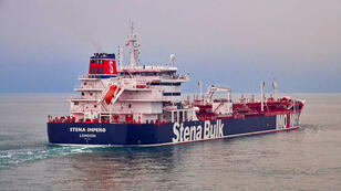 """El """"Stena  Impero"""", la embarcación de bandera británica propiedad de Stena Bulk, en un lugar no revelado en una fotografía sin fecha suministrada por la agencia de noticias Reuters el 19 de julio de 2019."""