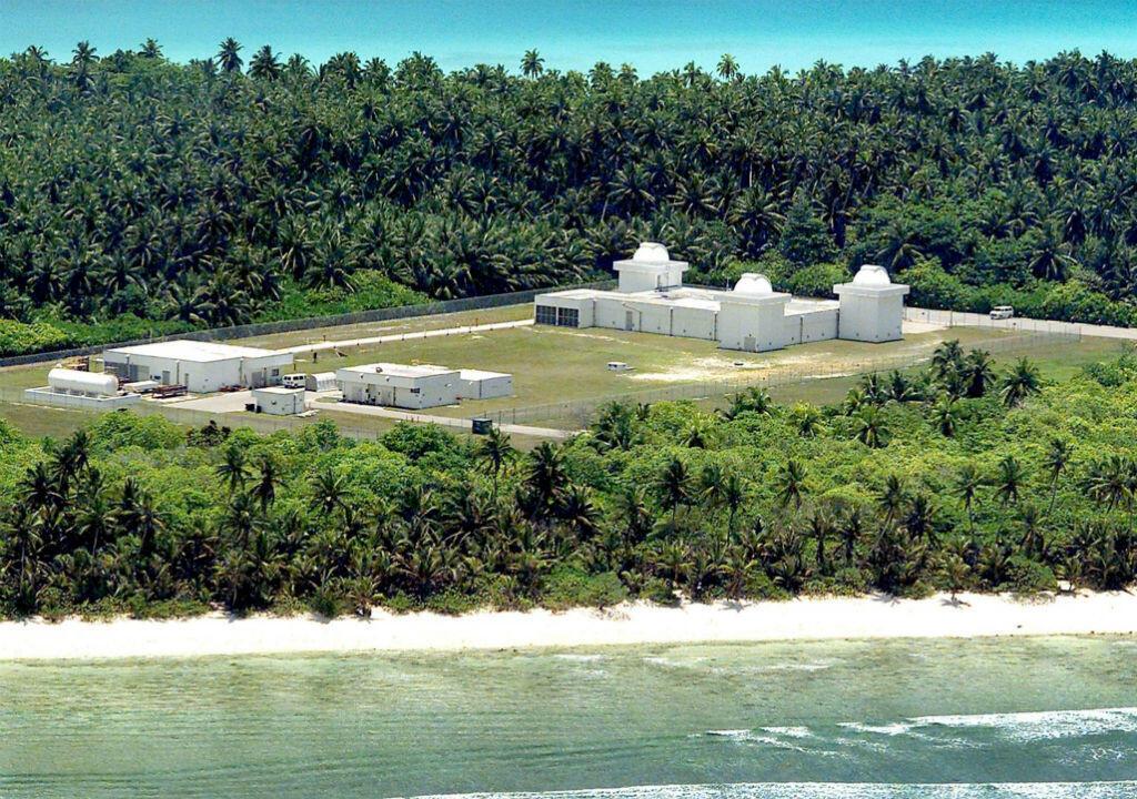 L'île de Diego Garcia dans l'archipel de Chagos héberge une base militaire américaine majeure