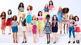 """La nouvelle collection """"Barbie Fashionistas"""" comprend quatre morphologies différentes: ronde, petite, grande et le modèle original."""