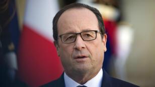 Le président s'adresse à la presse, le 31 octobre 2014, au palais de l'Elysée.