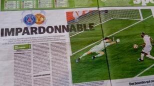 'La Parisien' califica de 'imperdonable' la derrota del PSG ante el Manchester United.