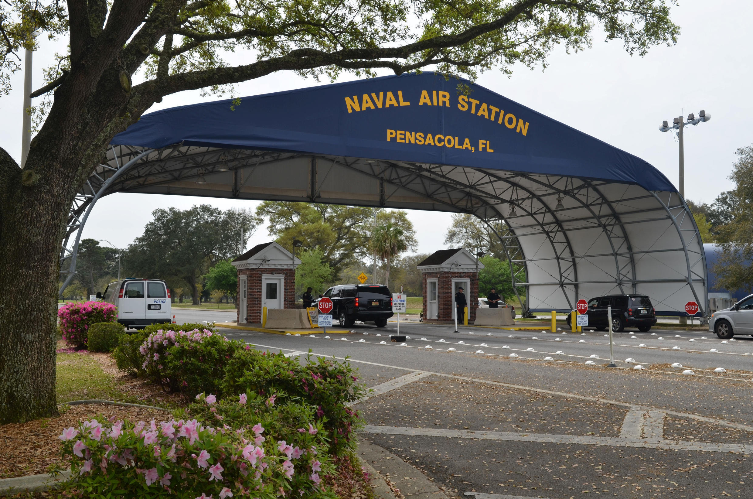 Naval Air Station Pensacola in Florida, where the deadly shooting took place last December.