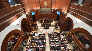 Egyptian members of parliament meet at the Shura council in Cairo in September 2012 (file photo)