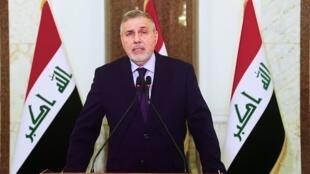 صورة ملتقطة من شاشة فرانس24 لرئيس الوزراء العراقي المكلف محمد توفيق علاوي