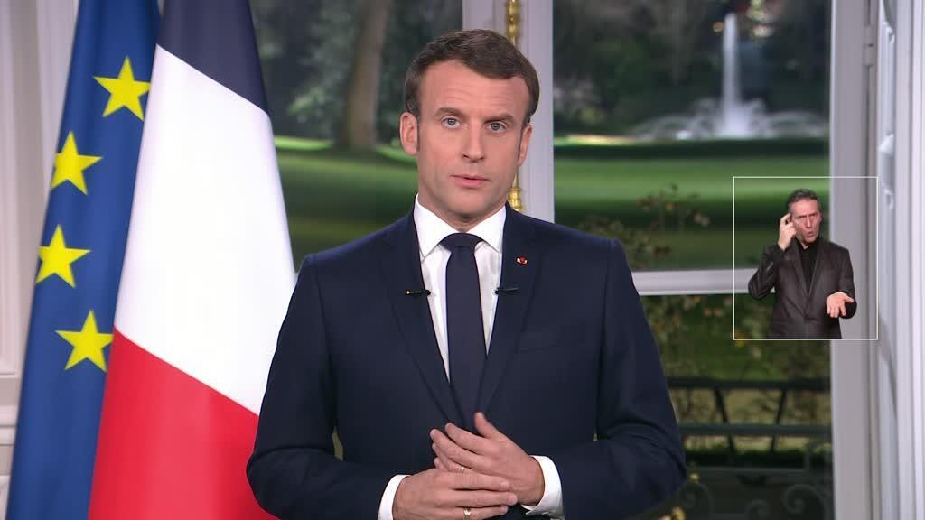 Emmanuel Macron, le 31 décembre 2019, lors de ses vœux aux Français.