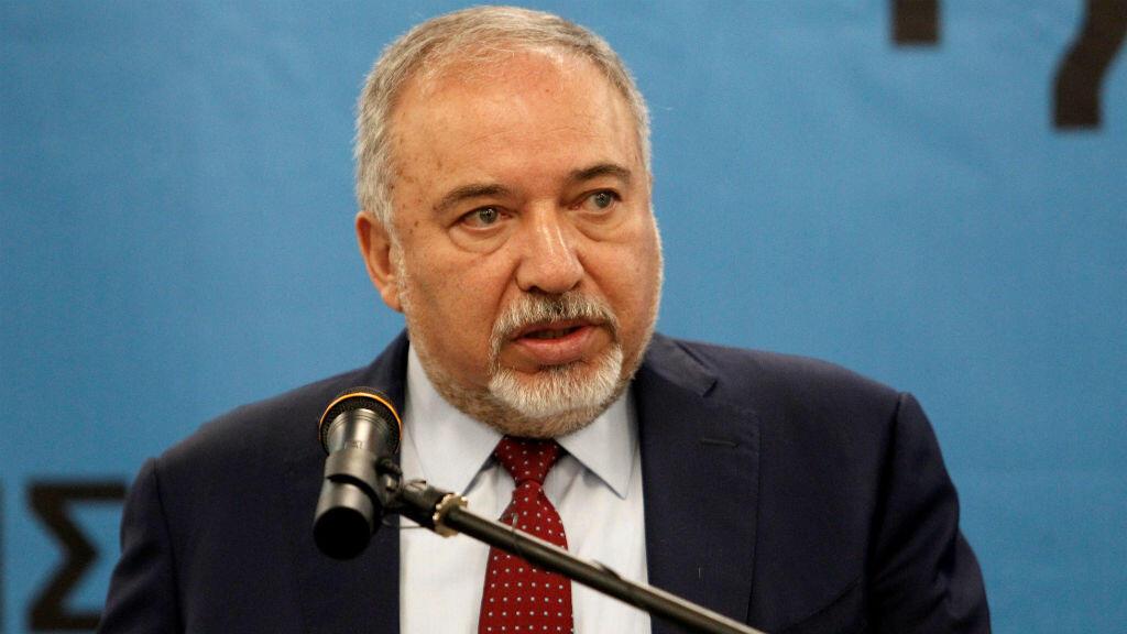 وزير الدفاع الإسرائيلي المستقيل أفيغدور ليبرمان