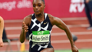 Britain's Dina Asher-Smith clocked 7.08secs, equalling her personal-best for the 60m at Karlsruhe's indoor meet on Friday