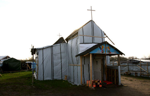 The Ethiopian Orthodox Church that has been built in the centre of the migrant camp. Photo © Sarah Leduc