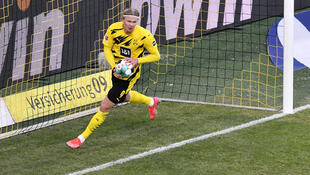 Erling Haaland scored a late equaliser to save Borussia Dortmund a point on Saturday