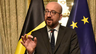 Le Premier ministre belge Charles Michel lors d'une conférence de presse à Bruxelles, le 8 décembre 2018.