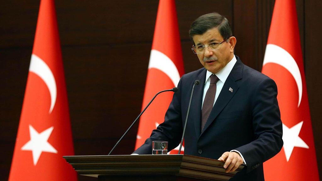 Le Premier ministre turc, Ahmet Davutoglu, lors d'une conférence de presse à Ankara, le 7 septembre 2015.