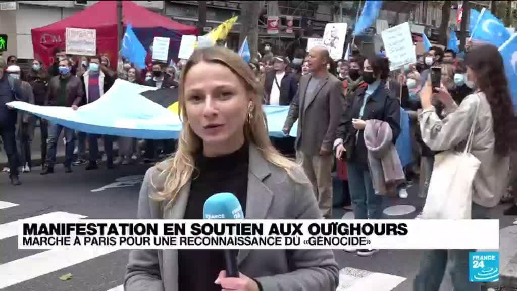 """2021-10-02 15:01 Manifestation à Paris pour la reconnaissance du """"génocide Ouïghours"""""""