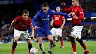 إدين هازارد يفي مباراة تشلسي أمام مانشستر يونايتد 18 فبراير/شباط 2018