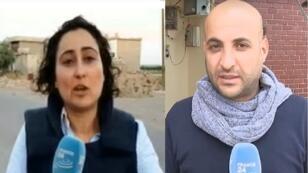 موفدي فرانس24 إلى سوريا عبد الله ملكاوي ومايسة عواد.