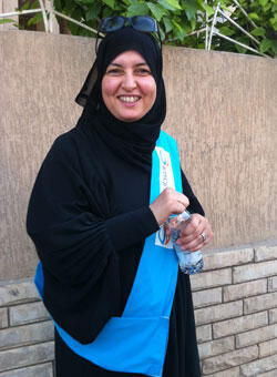 Majda al-Fallah, candidate for the Muslim Brotherhood's Justice and Develoment Party.