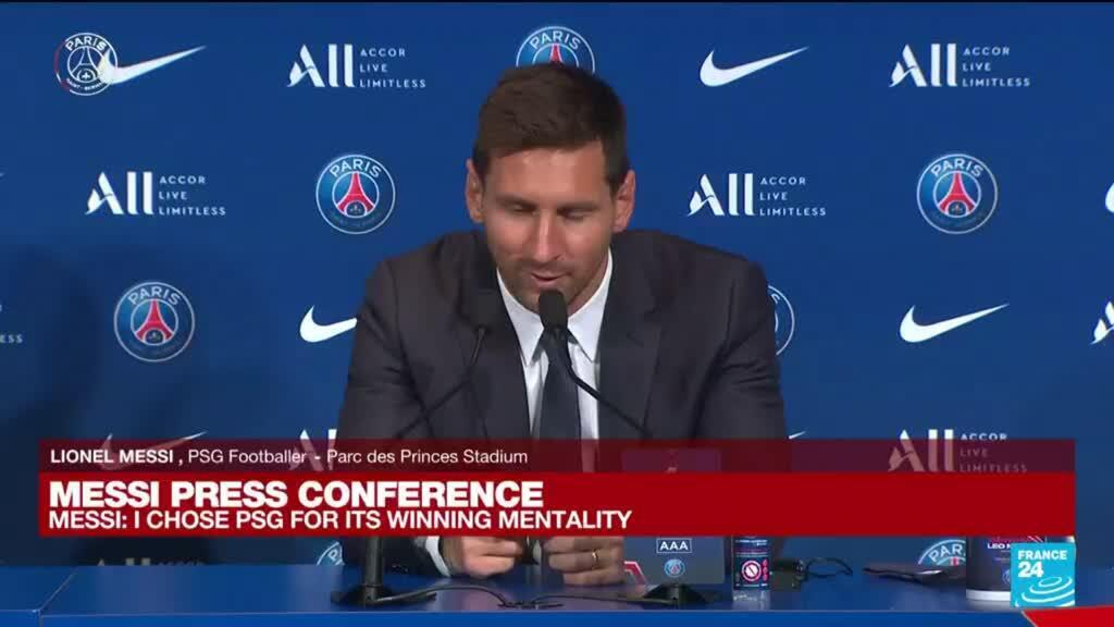 2021-08-11 11:26 Messi's PSG presentation: 'Neymar and I are stronger together'