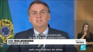2020-03-26 10:11 Coronavirus au Brésil : Jair Bolsonaro crée un tollé en s'opposant au confinement