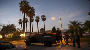 La police était à la recherche de suspects, mercredi 2 novembre 2015, après la fusillade de Bernadino, en Californie.