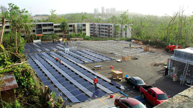 Le parking de l'Hospital del Nino, à Porto Rico.