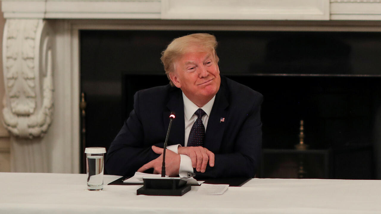 Donald Trump en conférence de presse à la Maison Blanche le 18 mai 2020.