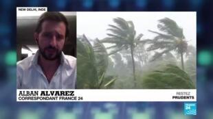 2020-05-20 16:01 Le puissant cyclone Amphan a touché terre à la frontière entre l'Inde et le Bangladesh