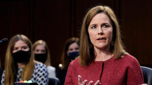 US Supreme Court nominee Judge Amy Coney Barrett participates in the second day of her confirmation hearing before the Senate Judiciary Committee on October 13, 2020.