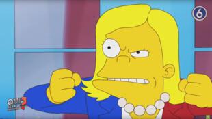 Marine Le Pen, parodiée façon Simpson dans une vidéo de Greenpeace France.