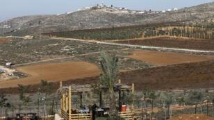 Au loin, la colonie de Shilo, en Cisjordanie, le 20 novembre 2018.