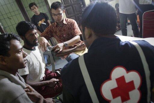 Détenus musulmans du centre de réfugiés de Sumatra
